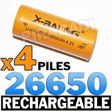 4 PILES ACCUS RECHARGEABLE BATTERIE 26650 8800mAh 4.2V Li-ion BATTERY ** RARE **