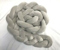 "Braided Baby Crib Decoration Blanket Soft Knotted 78"" Gray"