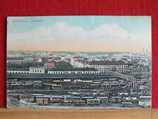 Seltene Farbkarte - Lundenburg / Břeclav - Panorama über den Bahnhof - gel 1915