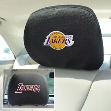 Los Angeles Lakers FM Premium Embroidered 2pack Auto Head Rest Covers Basketball