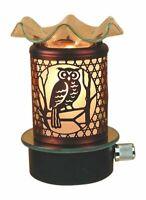 Plug in No Cord Oil Wax Melts Warmer Burner Night Light Owl Design
