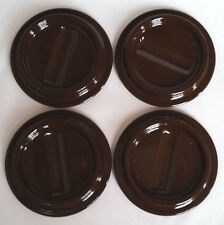 """Brown Lucite Piano Caster Cup 4-1/2"""" x 2-3/4"""" Set of 4"""