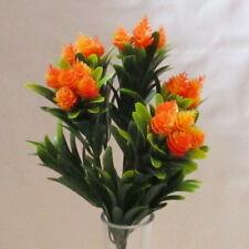 Artificial Flor de Naranjo arbustos - 39 Cm-falso en forma de cono cabezas de flores