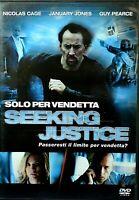 SEEKING JUSTICE - SOLO PER VENDETTA (2011) Nicolas Cage DVD EX NOLEGGIO - EAGLE