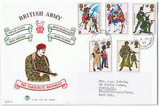 British Army Uniforms 1983 Parachute Regiment First Day Cover SG1218 to SG1222