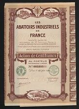 DECO => ABATTOIRS  Industriels de France (B)