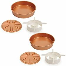 Copper Chef Perfect Cake Pan 6pcs. - BOGO! Make Filled Cakes and Stuffed Breads!