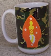 Coffee Mug Military Marine Corps 2nd Division NEW 14 ounce cup with gift box