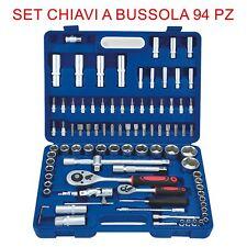 Set Chiavi Combinate a Cricchetto 94 Pz Chiavi a Bussola con inserti EN-28891