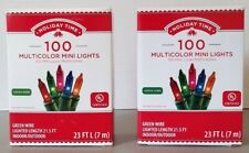 Holiday Time Multicolor 100 count lights (set of 2)