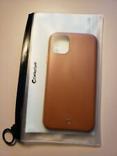 BASIC SMOOTH LEATHER DESIGN SADDLE BROWN IPHONE  11 CASE SOFT MICROFIBER LINING.