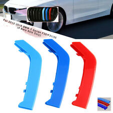 M-Farbe Niere Gitter Bar Abdeckung Verkleidung Nur für BMW 3 F30/31/35 8 Bars