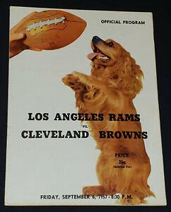 1957 - LOS ANGELES RAMS vs CLEVELAND BROWNS - NFL - PROGRAM - ORIGINAL