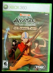 Avatar The Last Airbender The Burning Earth XBOX 360 Y-Folds 2007 NEW SEALED