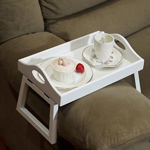JUJOYBD 2pcs Couch Arm Table, Arm Rest Table, Armrest Table Tray, Sofa Arm Clip