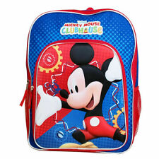 "Disney Mickey Mouse Clubhouse 16"" Molded Backpack Back to School Book Bag Kids"