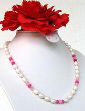 Halsketten und Anhänger mit Rubin-Perlen für Damen