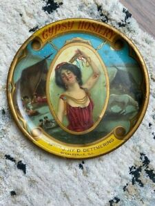 STEELEVILLE IL ILLINOIS Hy Dettmering Gypsy Hosiery 1900 era Advertising tray