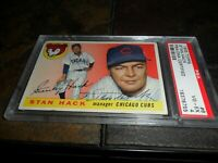 1955 Topps Stan Hack #6 SIGNED  PSA/DNA  4  AUTOGRAPHED CHICAGO CUBS  D.1979