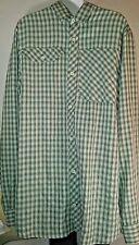 Eddie Bauer Men's Shirt Green Checkered XL Tall  Long Sleeve Button Up 2 Pocket