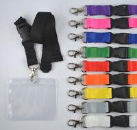 50 x Schlüsselband mit Ausweishülle EC Kartenhalter Lanyard Ausweishalter