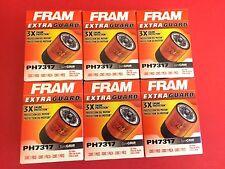 Lot of 6  Engine Oil Filter-Extra Guard Fram PH7317  for Honda,Nissan,Acura