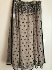 soft surroundings Boho Long Skirt Snap In Lining Sequined large