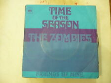 """THE ZOMBIES""""TIME OF THE SEASON/FRINDS OF MINE-disco 45 giri CBS italy 1969"""""""