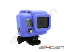 GoPro HERO 3 Silicon Case Protective Dirt proof Skin Blue Rubber Cover HERO3