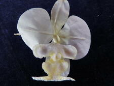 Vintage Millinery Flower Exotic Orchid True White for Hat Wedding + Hair Kq4
