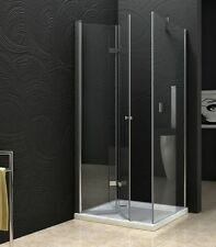 New Semi Frameless Bifold Door Shower screen with base 900X900X1950 8mm Glass