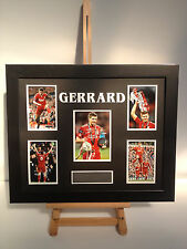 UNIQUE PROFESSIONALLY FRAMED, SIGNED STEVEN GERRARD PHOTO COLLAGE WITH PLAQUE.