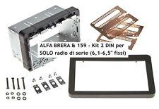 Mascherina kit autoradio Doppio 2 DIN Alfa 159 Brera dal 2005 autoradio di serie