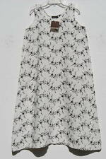 NWT Eskandar OYSTER w/Black Embroidered Flowers Linen Long Dress (0) $1095