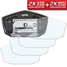 4 x APRILIA DORSODURO 900 Dashboard Screen Protector 2 x Clear & 2 x Anti-Glare