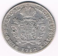 1/4 DUCATON 1752 Maria Theresa Austrian Netherlands Antwerp   Ag   Silver