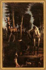 Der heilige Hubertus Hans von Marees Wald Jäger Jagd Sankt St LW H A2 0222