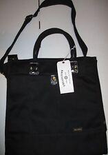 1 New BillyKirk Billy Kirk Zip Black Canvas Tote Messenger Bag