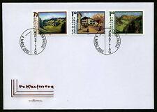 Liechtenstein 2002 FDC Mi-Nr. 1286-1288 Liechtensteiner Maler Friedrich Kaufmann