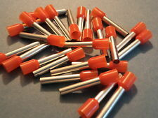 ORANGE 4.0mm x 18mm extra long pin FERRULE CRIMP (BOOTLACE CRIMPS)  QTY = 50