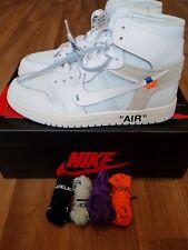 """Nike Air Jordan 1 x Off-White """"TUTTO BIANCO"""" 6 Regno Unito, UE 40, US 7"""