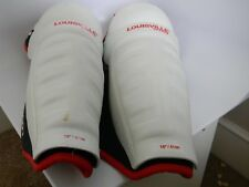 Adult Louisville TPS 500 White, Black & Red Hockey Shin Guards 16""