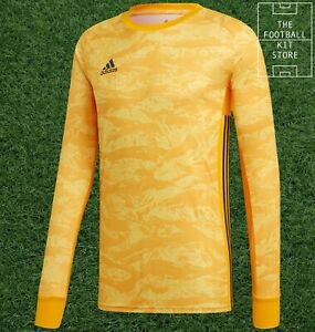 adidas adipro Goalkeeper Shirt Gold - GK Long Sleeved Jersey - Mens - All Sizes