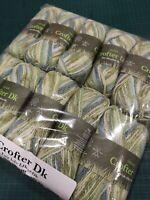 10 x 45 seagrass 50g balls Sirdar crofter DK double knit wool blend