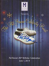 "PAT BOONE Signed Program ""Pat Boone Celebrity Roast"" Autograph w/ COA Nice AUTO"