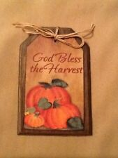 5 WOODEN Handcrafted PRIM Thanksgiving Ornaments/Grungy FALL Bowl Fillers SET'5