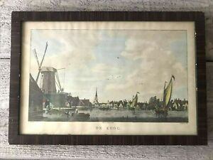 Antique Hand Colored Etching Print Bogerts after Bulthuis 1790