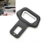 2PCS Universal Auto car safety seat belt buckle alarm stopper clip clamp BlackFT