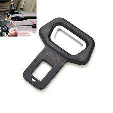 Universal Auto Car Safety Seat Belt Buckle Alarm Stopper Clip Clamp Black New UK