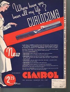 The Curlocomb Goes Round and Around 1935 Clairol Advertising Sheet Music